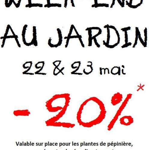 WEEK-END AU JARDIN